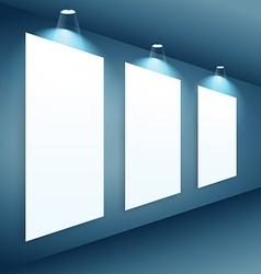 presentation gallery wall vector image