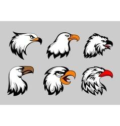 Bald eagle mascot heads vector