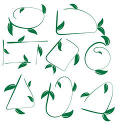 set of ecological leaf shapes on white background vector image