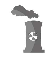Factory chimney isolated icon vector