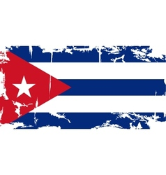 Cuban grunge flag vector