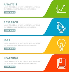 Flat design concept for analysis research idea vector