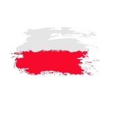 Poland flag painted by brush hand paints art flag vector