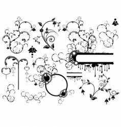 set of various design elements vector image