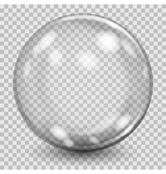 Big gray transparent glass sphere vector