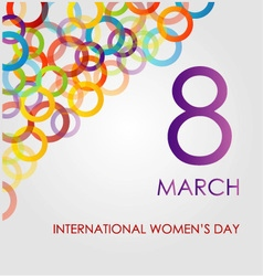 Colorful Ecard for womens day vector image