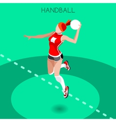 Handball 2016 summer games isometric 3d vector