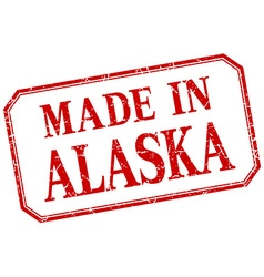 Alaska - made in red vintage isolated label vector