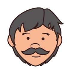 Father mustache cartoon icon vector