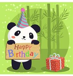 Birthday Panda Bear Cartoon vector image