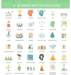 Business motivation color 36 vector image