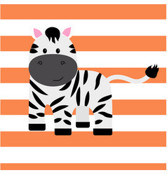 cartoon zebra print vector image vector image