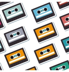 cassette old music pattern vector image