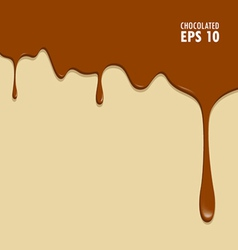Chocolate dripping vector image vector image