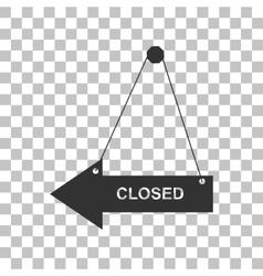 Closed sign dark gray icon on vector