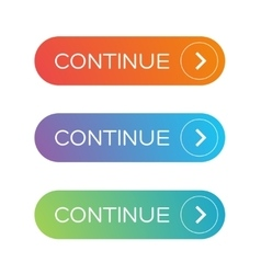 Continue button set vector