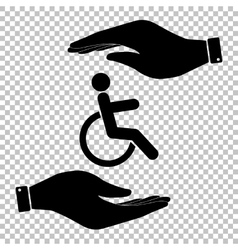 Disabled sign Flat style icon vector image