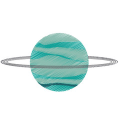 Drawing uranus planet solar system vector