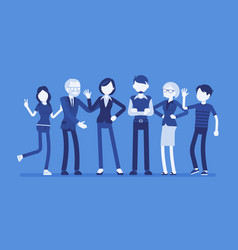 family members together vector image