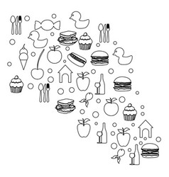 Figure cloud color food blackground icon vector