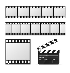 Film Strip Set and Chalkboard vector image vector image