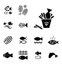 fish icon isolated vector image