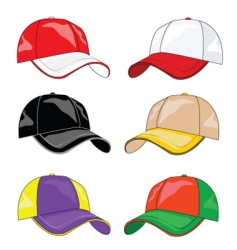 fitted caps vector image vector image