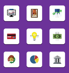 Flat icon finance set of payment bubl counter vector