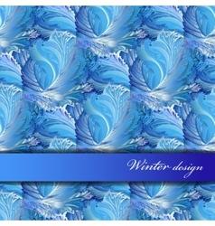 Horizontal stripe border design winter frozen vector