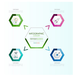 infographic template business concept with options vector image vector image