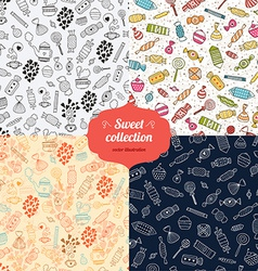 Love candy background set vector