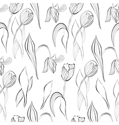 Monochrome seamless pattern vector image