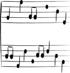 Musical staff vector