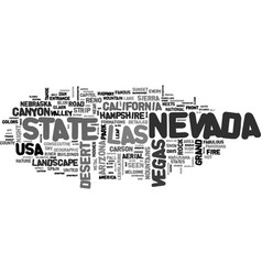 nevada word cloud concept vector image vector image