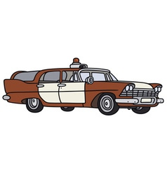 Old fire patrol car vector image vector image