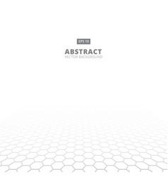 perspective grid pixel hexagonal texture black vector image