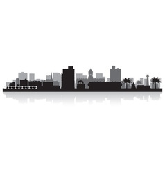 Port Elizabeth city skyline silhouette vector image