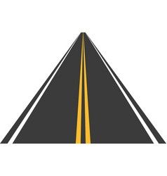 road street with asphalt highway way for vector image