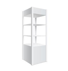 Showcase display retail shelf rack vector