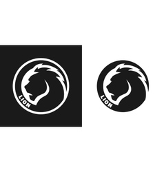 Silhouette of an lion monochrome logo vector