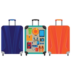 Suitcase for travel and vacation vector image vector image