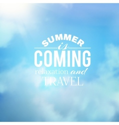 Summer background with clouds vector image