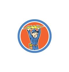 Thunderbolt toolman electrician lightning bolt vector