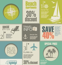Travel Modern design template vector image vector image