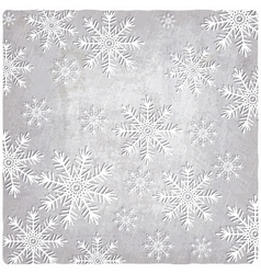 Vintage background with cutout paper snowflakes vector image vector image