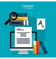 Education learning school computer design vector