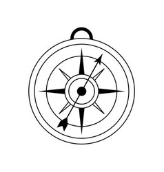 analog compass icon image vector image