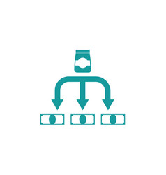 Cost of goods icon business finance sign vector