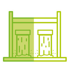 Silhouette water tank to reserve and ecology care vector