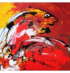 art composition of abstract tiger vector image